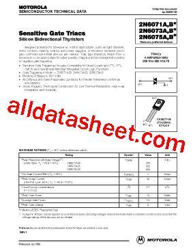 transistor e13009 datasheet 2n6071 datasheet pdf motorola inc