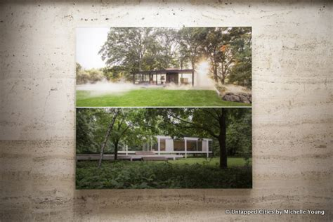 two houses side by side new photo exhibit at four seasons restaurant pits two iconic modernist houses side