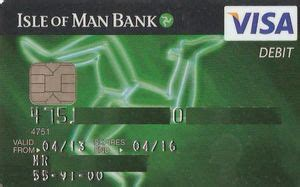 sle of green card bank card green with chip isle of bank isle of