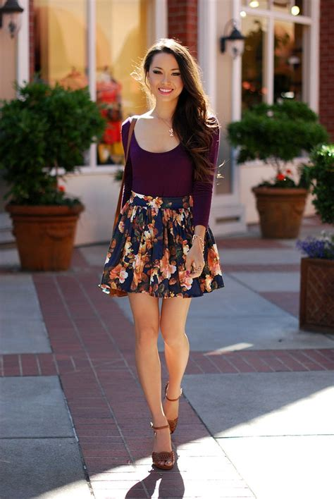cute floral print outfits combinations  spring season