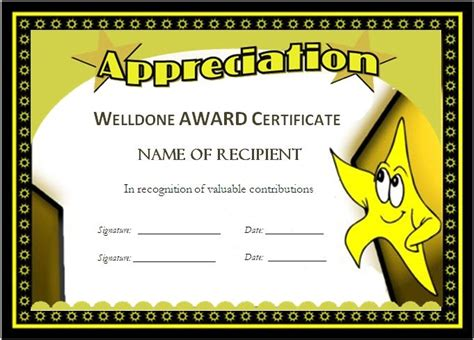 student certificate templates for word award templates for students microsoft word award