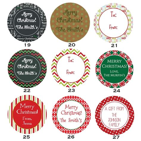 printable christmas round tags 2 quot round gift tag stickers
