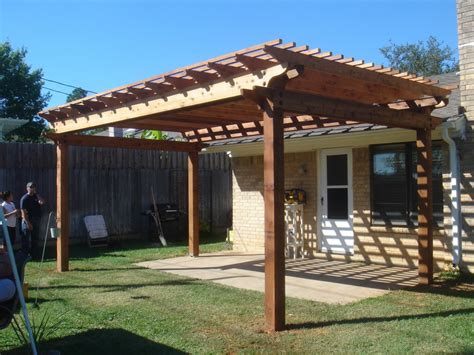 modern simple pergola and gazebo design trends attached to house roof for backyard hardscaping