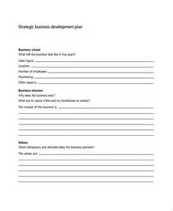 Strategic Business Development Plan Template Sample Business Development Plan Template 6 Free