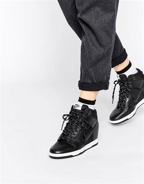 Nike Wedges Sky Dunk Colour Kode Ss6186 nike nike dunk sky hi essential leather trainers at asos