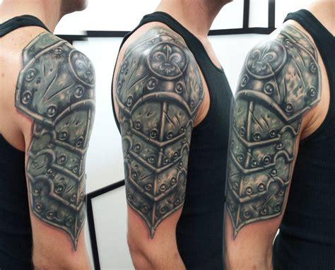 armor sleeve tattoo 30 armor tattoos ideas