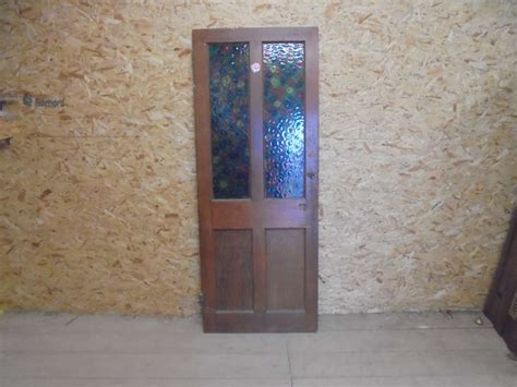 reclaimed stained glass doors reclaimed stained glass half glazed door authentic