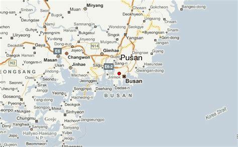 pusan on map guide urbain de pusan