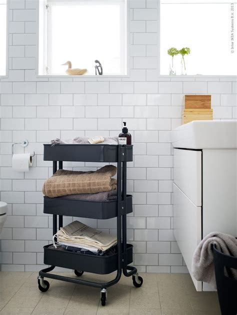 rolling carts ikea ikea rolling cart used in the bathroom bathroom pinterest