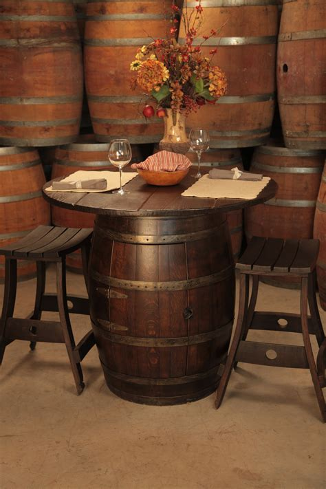 wine barrel pub table wine barrel pub table and stools for in the