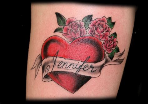 rose and heart tattoo tattoos page 15