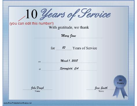 years of service certificate templates free pin service award certificate templates