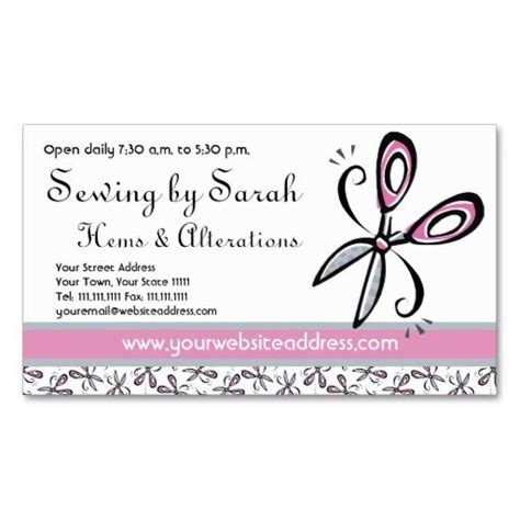 Alterations Business Cards Templates by Alterations Shop Seamstress Or Tailor S Shop