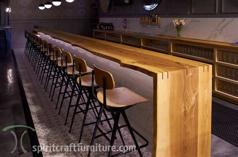 bar top edge live edge ash bar tops and restaurant tables at chicago