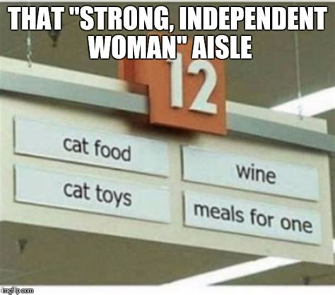 Independent Woman Meme - strong independent woman aisle imgflip