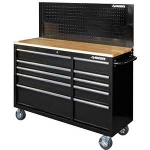 husky work bench husky 52 in 10 drawer mobile workbench with pegboard back