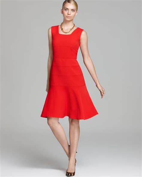 anne klein swing dress anne klein knit swing dress sleeveless in red cardinal