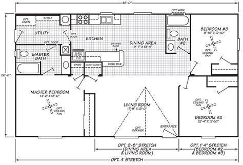 wide mobile home floor plans fleetwood mobile
