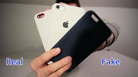 iphone    silicone case real  fake