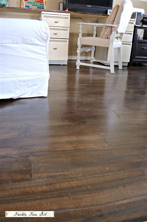 How To Make Paper From Wood - faux wood plank floors using brown paper remodelaholic