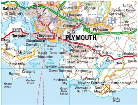 map of plymouth and surrounding areas plymouth haritası