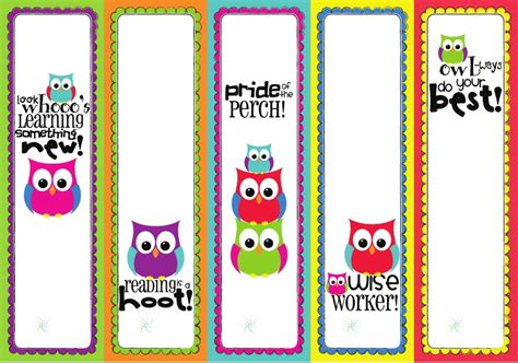 printable owl bookmarks owl bet it s going to be a great school year happy home
