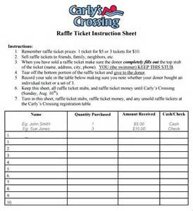 Raffle Template by Raffle Sheet Template 8 Free Pdf Documents