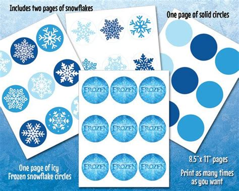 printable frozen garland instant download printable frozen snowflake by
