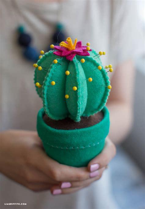 Housewarming Gift Idea by Felt Cactus Pincushion Lia Griffith