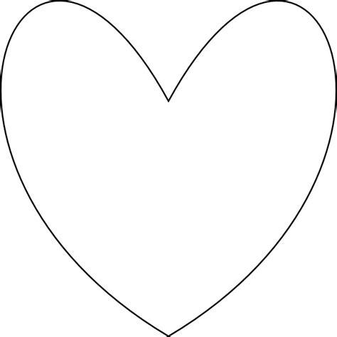 large heart shape clipart best big heart template clipart best