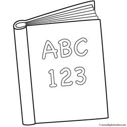 book coloring sheets abc and 123 book coloring page back to school