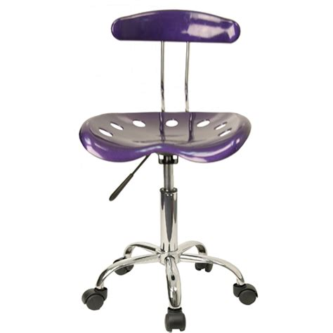 Tractor Seat Desk Chair by Vibrant Violet And Chrome Computer Task Chair With Tractor