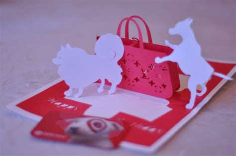 creative pop up cards templates free gift purse pop up card template