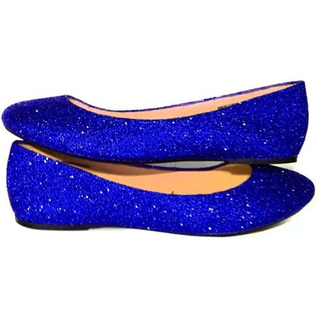 sparkly wedding shoes flats sparkly royal or navy blue glitter ballet flats shoes