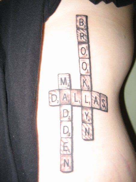 scrabble tattoo design would be awesome as tiles on a wall in the gameroom