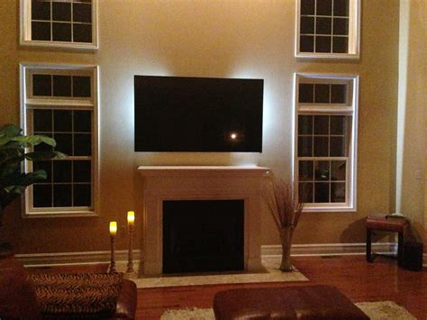 Mount Tv On Fireplace by Decoration Attractive Window Treatment With Mounting A Tv