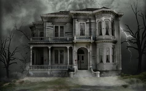the spooky spooky house haunted house halloween wallpaper 16050708 fanpop