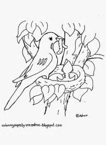 coloring pages kids adron robin nest free coloring