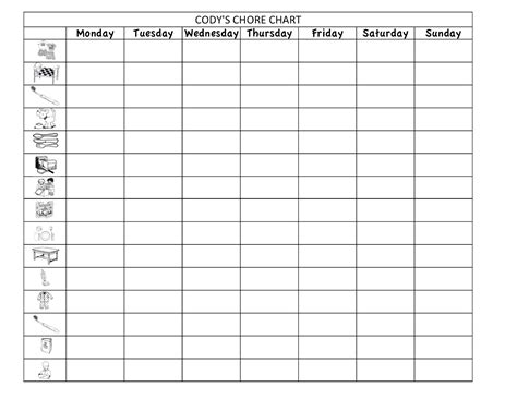 Chore Sheet Template by Can I Make It Do It Chore Chart