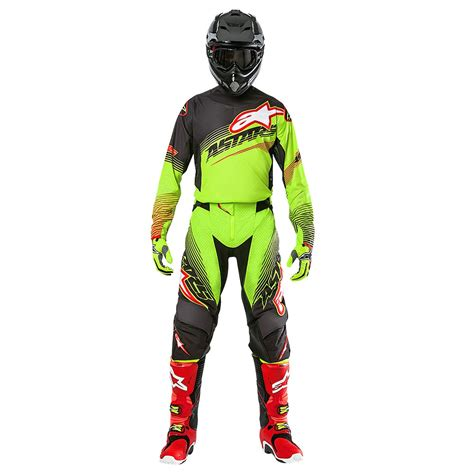alpinestars motocross gear alpinestars techstar factory le torch gear kit yellow