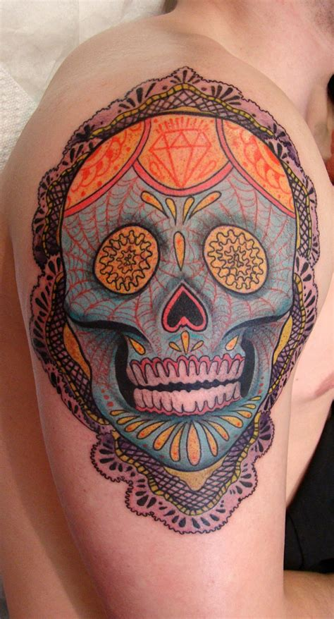 candy skull tattoo 20 fascinating hispanic tattoos