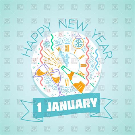new year january 1 january 1 greeting card happy new year vector image