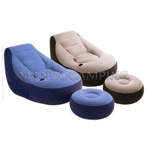 sillon inflable sillon inflable intex con puff mundo cing