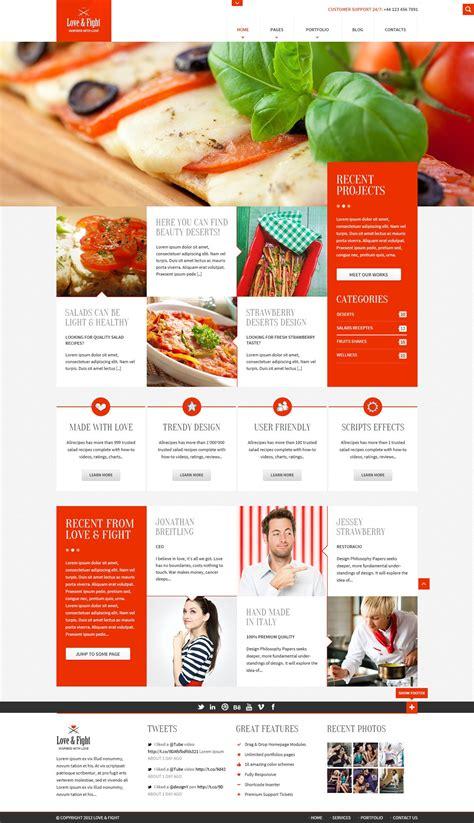layout restaurant website plantilla psd gratis para una web de un restaurante