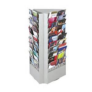 steel rotary magazine and brochure display racks