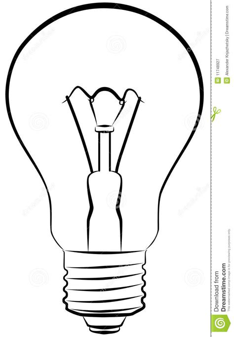 Light Bulb Outline Clip by Electric Bulb Clipart Clipground