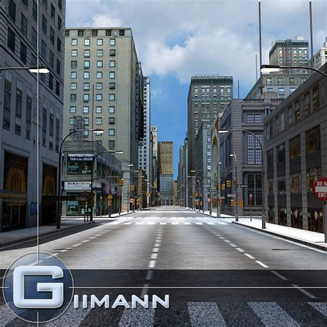 Search For In A City City Road Building 3d Model