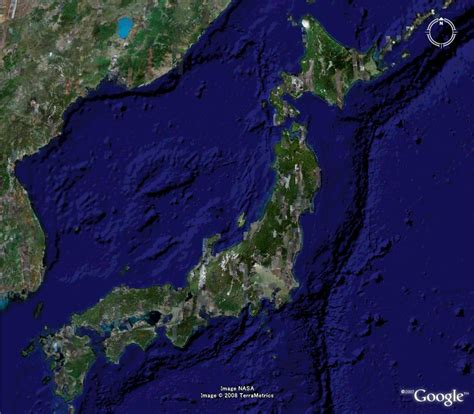 google earth map japanat