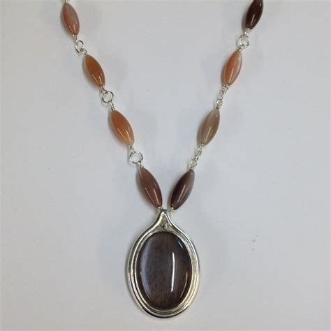 Handmade Pendant - 68542 handmade pendant set with moonstone in