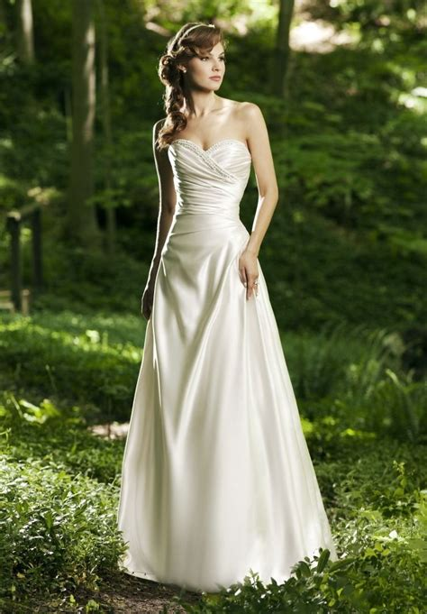simple dress for wedding simple strapless wedding dress with sweetheart ipunya